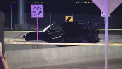 One person has died after a single-vehicle crash on the Loop 202