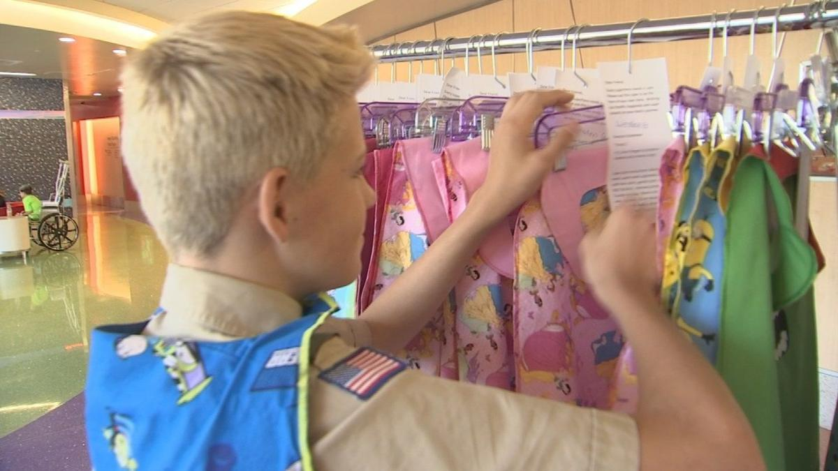Teen delivers superhero capes to children at PCH