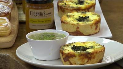 Quiche and Romaine Soup