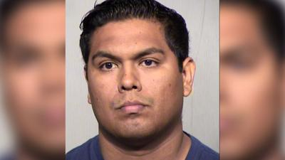 Pedro Javier Aguila Muniz was arrested at DPS Headquarters Wednesday on multiple felony charges.