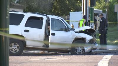 Woman dead after car ends up in a yard during a crash in Phoenix