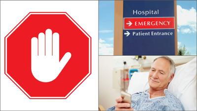 No hospital visitors