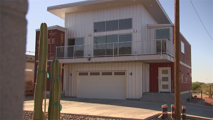 Marvelous Shipping Container Home About To Hit Market In South Phoenix Home Remodeling Inspirations Propsscottssportslandcom