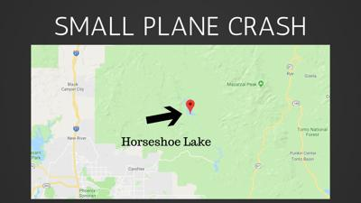 A small plane went down Saturday near Horseshoe lake, north of Carefree