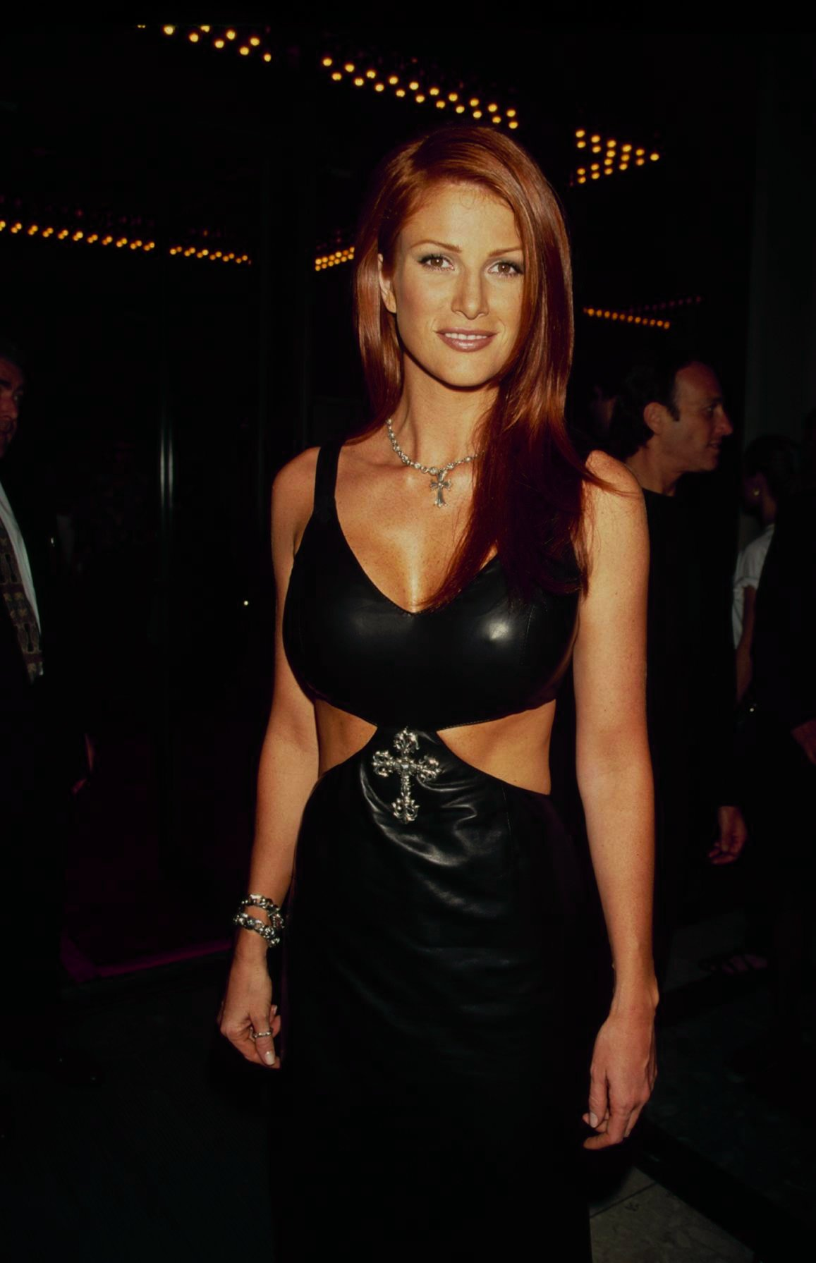 Angie Everhart after breast implant surgery