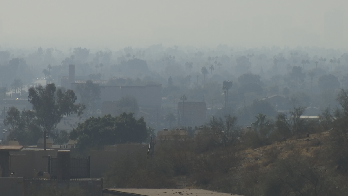 Poor air quality in Phoenix on New Year's Day