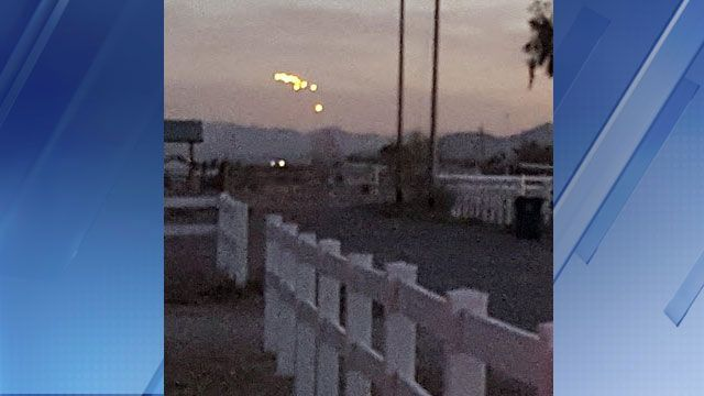 Mysterious lights spotted in Valley skies