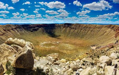 "It's been called ""the world's best-preserved meteorite impact site on Earth."" (Photo: Facebook)"