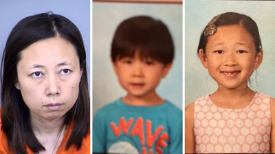 Yui Inoue and her two children