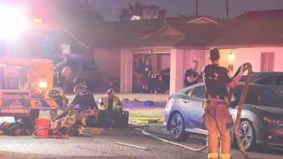 Laundry room fire at west Phoenix home