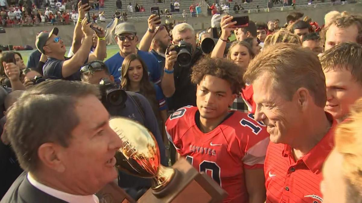 Centennial Coyotes football team took 1st in state for 5A division football