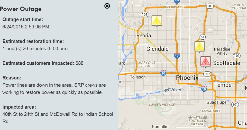Srp Power Restored To All Customers After Outage Arizona News