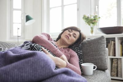 Sick woman recovering