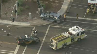 MCSO: Two in hospital after serious multi-vehicle crash in Mesa