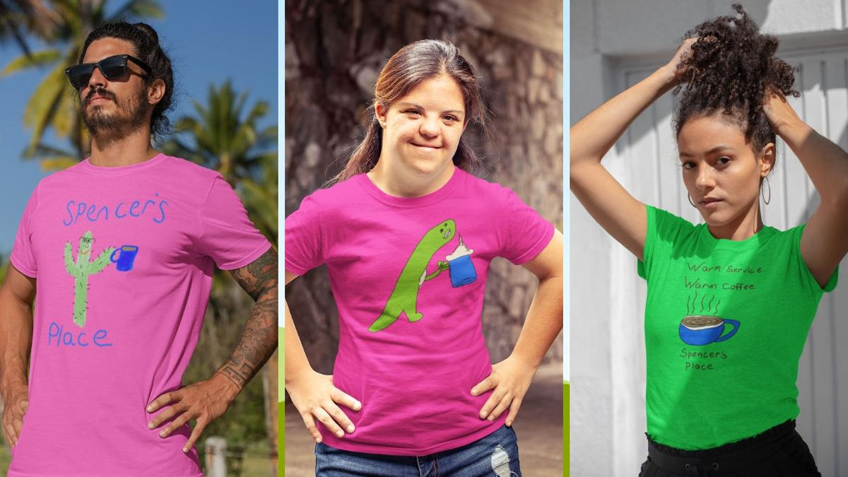 T-shirts designed by Spencer and friends