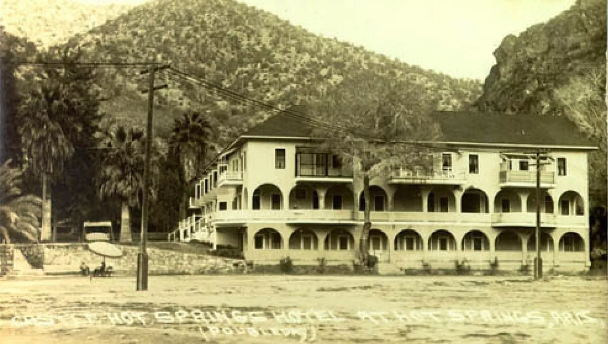 Historic Castle Hot Springs resort.