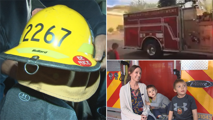 firefighter gifts christmas tree to phoenix family in need
