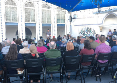 The vigil was held at the Islamic Community Center of Tempe.
