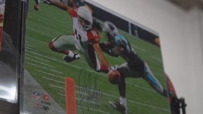 Signed Larry Fitzgerald photo