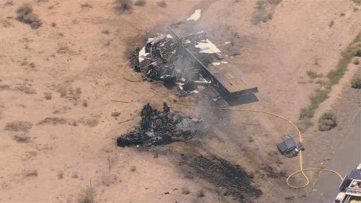 Woman, 2 infants killed in fiery crash on I-10 south of Chandler