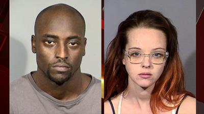 Mugshots of Cierre Wood, left, and Amy Taylor, right. (LVMPD)
