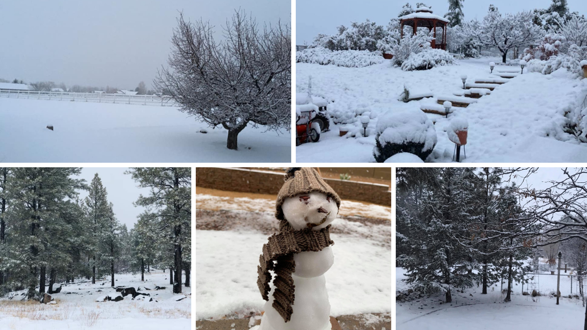 It's looking a whole lot like winter in Northern Arizona