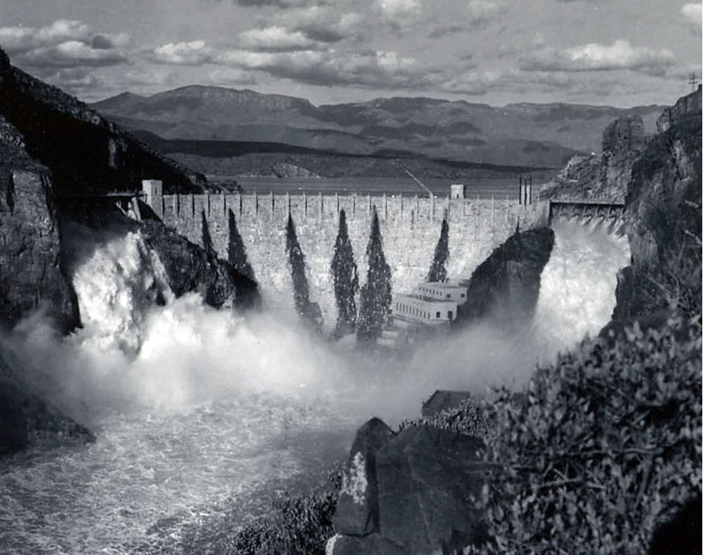 Roosevelt Dam in February of 1980: Arizona State Library