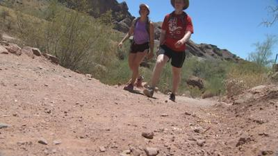 Hikers on Camelback Mountain