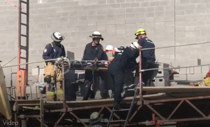 A construction accident left a man injured Friday
