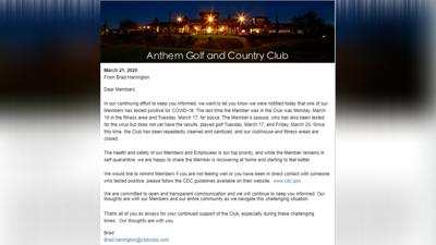 Anthem Golf and Country Club email