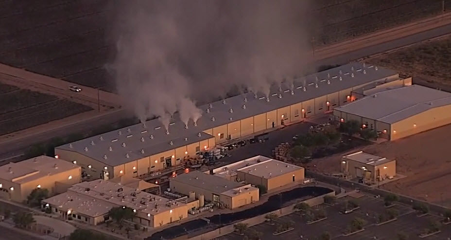 Fire at plant in Coolidge