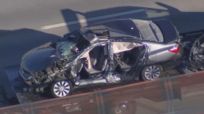 The 39-year-old female driver of the passenger car did not survive.