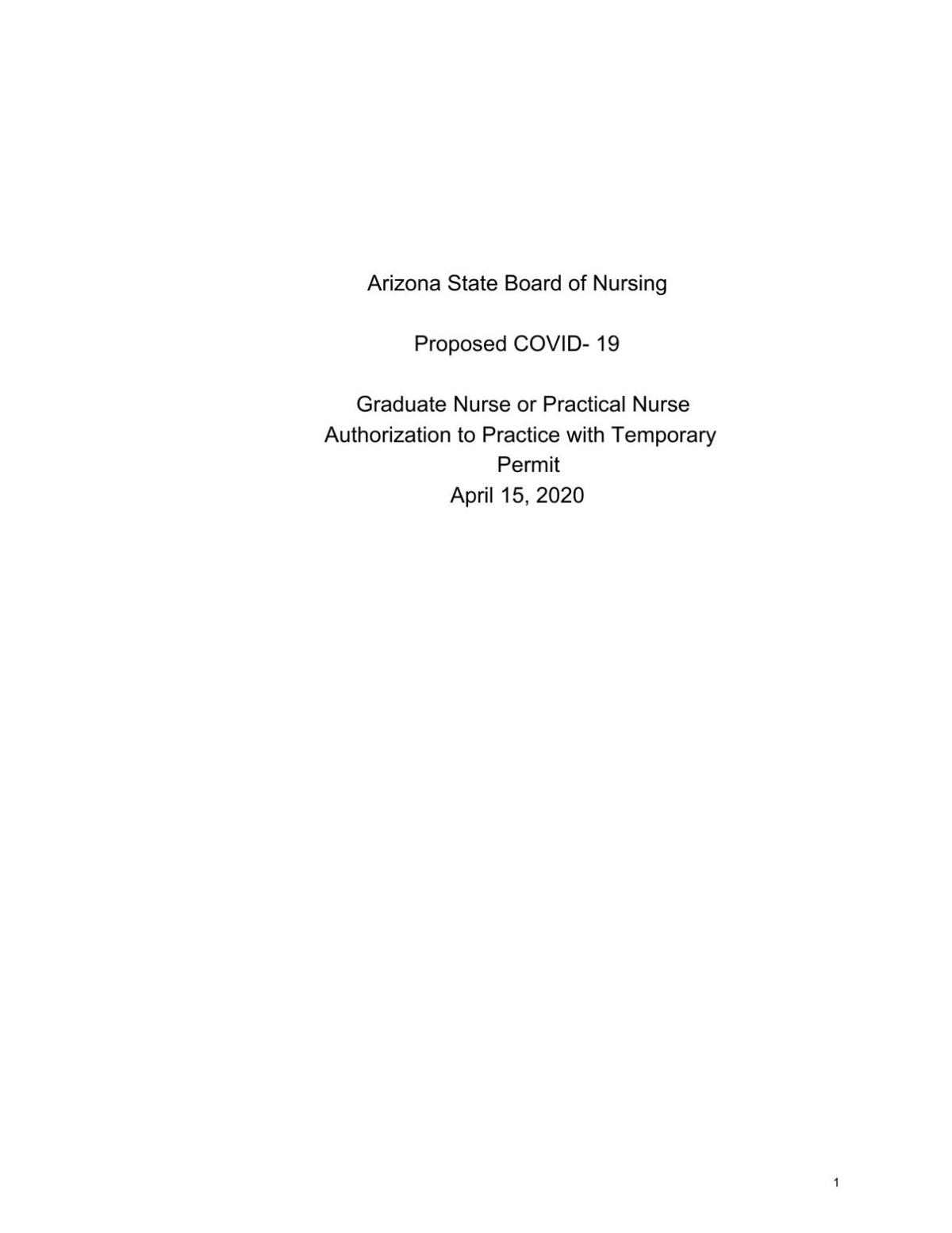 Authorization to Practice with Temporary Permit