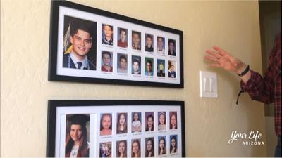 DIY SCHOOL YEARS PICTURE FRAME
