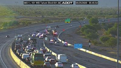 Police situation on eastbound Loop 101 at Tatum in north Phoenix