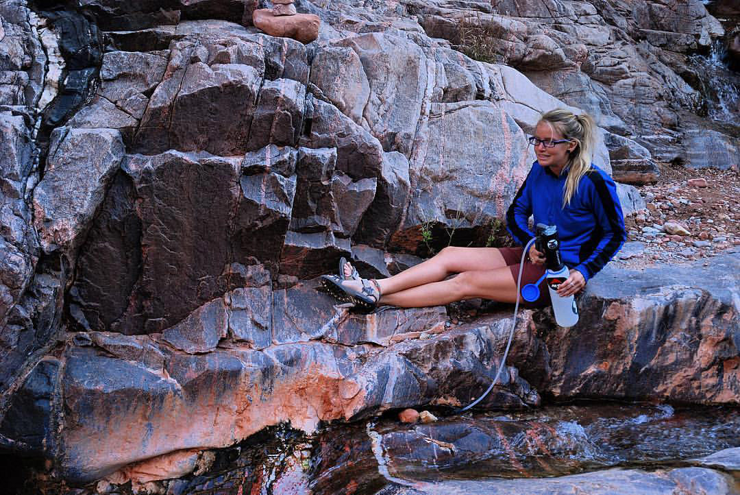 Staying hydrated on desert hikes