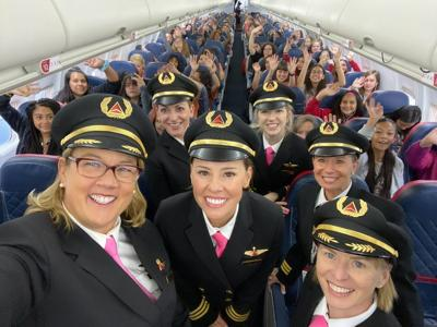 An all-female Delta team flew 120 girls to NASA to get them excited about aviation careers