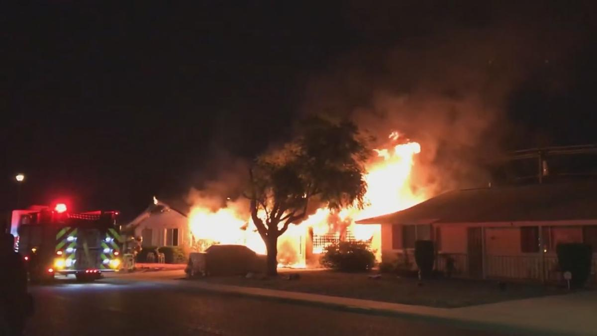 House fire in Sun City