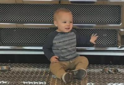 Authorities say 16-month-old Joey Reiss was with his parents on tour of the station Feb. 3, 2018, when he was crushed by an automatically-closing bay door.