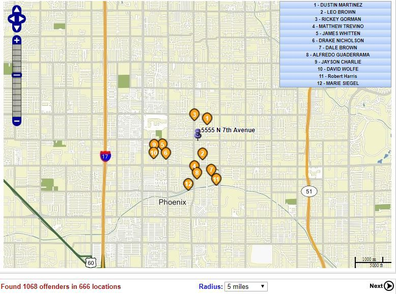 Map Of Arizona Sex Offenders.Sex Offenders Living In Arizona Search Your Neighborhood Safety
