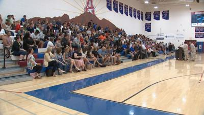 Arcadia High holds a meeting for parents in students in regard to the firing of Kerry Taylor