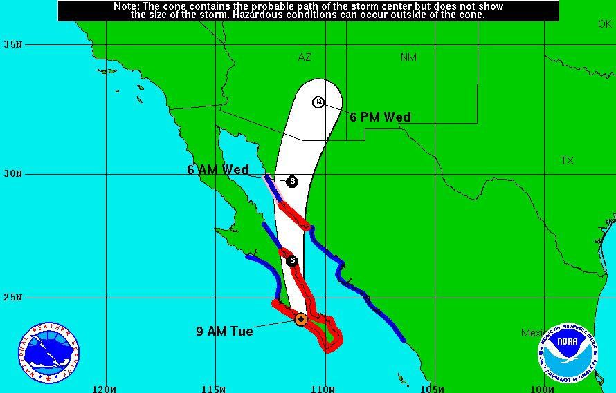 Dry conditions to yield with Newton bringing rain to Arizona