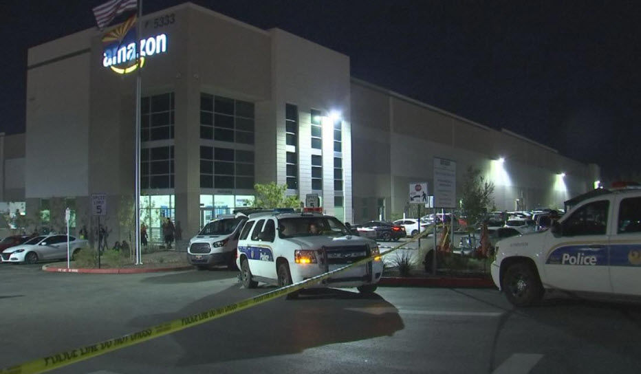 Newborn baby found dead in bathroom at Amazon distribution center, police say