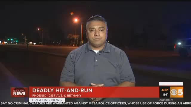VIDEO: Police investigating deadly Phoenix hit-and-run crash