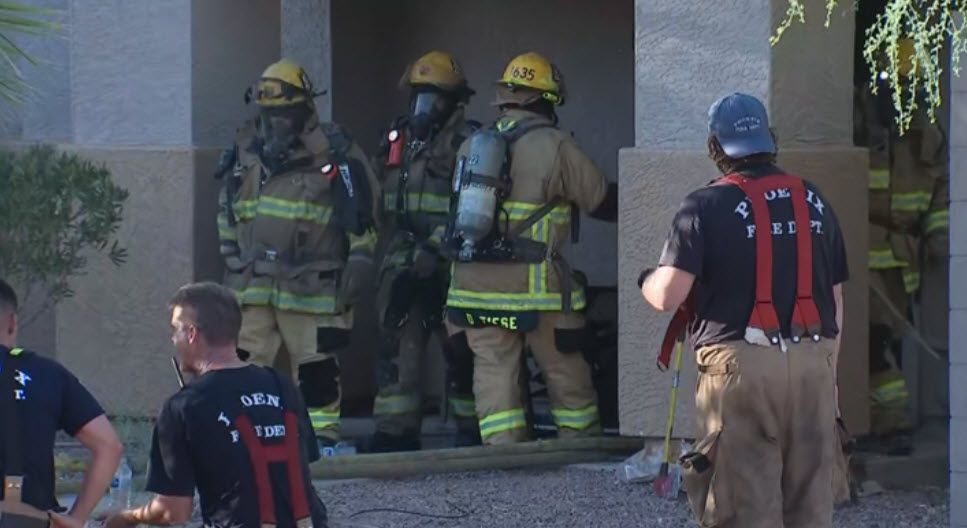 Burned 6-year-old rescued from south Phoenix house fire