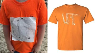 Boy bullied for his homemade University of Tennessee T-shirt has logo became official design