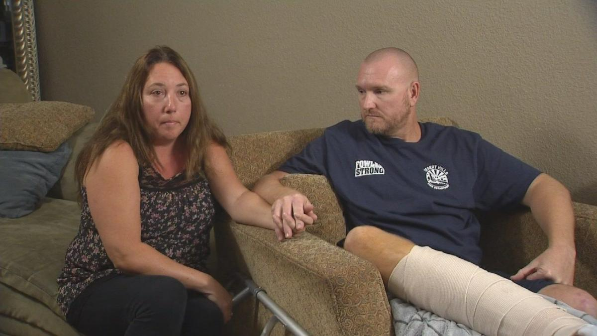 Arizona man shot while shielding wife in Vegas now recovering at home