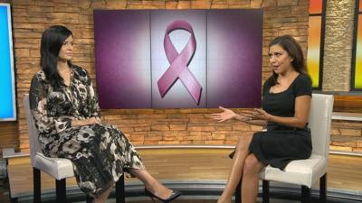 Kalinda Stephenson, diagnosed with breast cancer