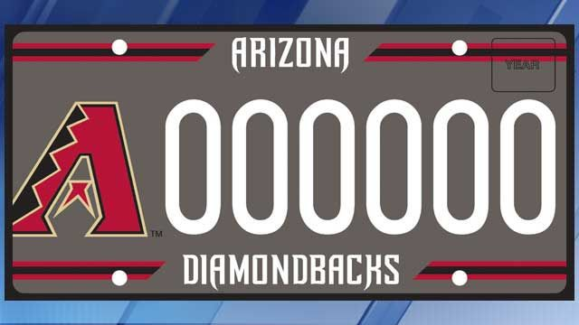 ADOT updates D-backs specialty license plate