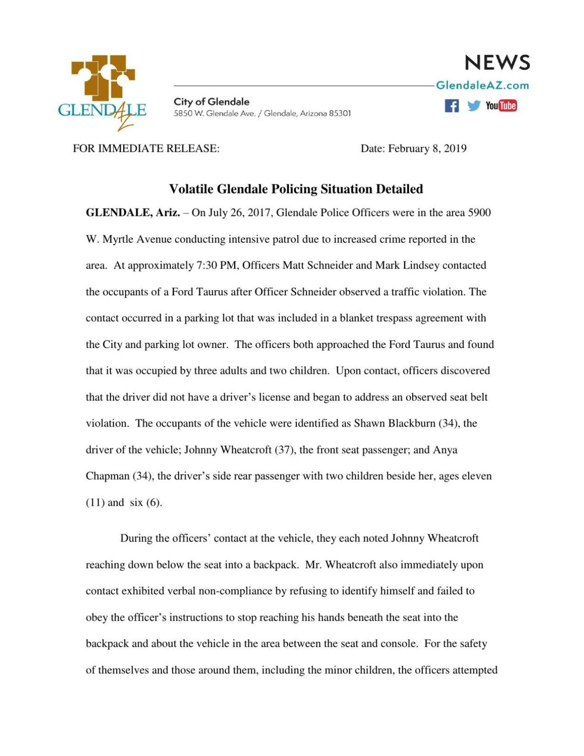 "PDF: ""Volatile Glendale Policing Situation Detailed"""